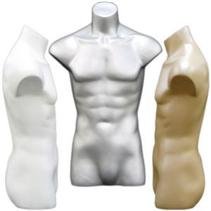 MN-149 Freestanding Armless Masculine Male Torso Form  - DisplayImporter.com - 1