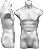 MN-149 Freestanding Armless Male Torso Mannequin Form - DisplayImporter