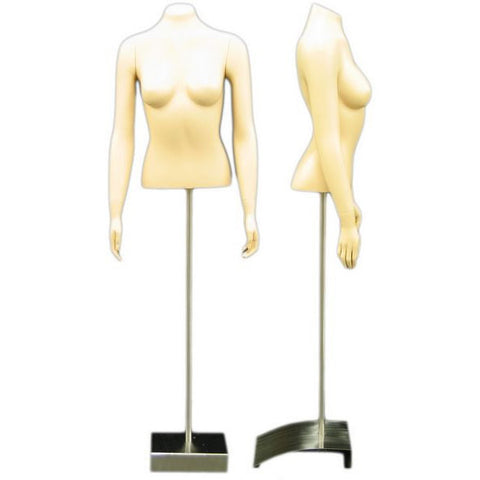 MN-152 Female Torso Fashion Form with Straight Arms  - DisplayImporter.com