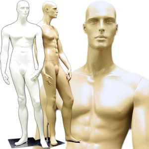 MN-158 Standing Masculine Male Mannequin with Base  - DisplayImporter.com - 1