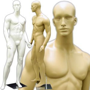 MN-159 Standing Masculine Male Mannequin with Base  - DisplayImporter.com - 1
