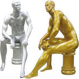 MN-162 Men's Full Size Sitting Masculine Mannequin  - DisplayImporter.com - 1