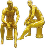 MN-162 Men's Full Size Sitting Masculine Mannequin Gold - DisplayImporter.com - 2