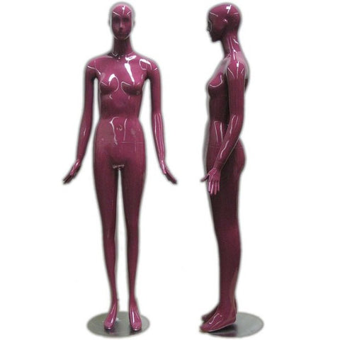 MN-165LTP Purple Glossy Abstract Female Mannequin (LESS THAN PERFECT, FINAL SALE)