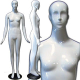 MN-165 Colorful Glossy Abstract Female Mannequin Glossy White - DisplayImporter.com - 9