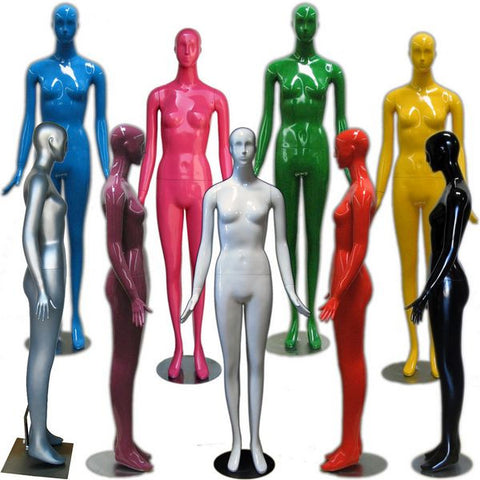 MN-165 Colorful Glossy Abstract Female Mannequin  - DisplayImporter.com - 1