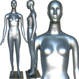 MN-165 Colorful Glossy Abstract Female Mannequin Silver - DisplayImporter.com - 11