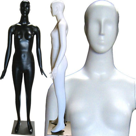 MN-165matte Abstract Female Mannequin  - DisplayImporter.com - 1