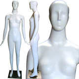 MN-165matte Abstract Female Mannequin Matte White - DisplayImporter.com - 3