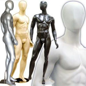 MN-169 Egghead Standing Masculine Male Mannequin with Base