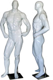 MN-181 Glossy Muscle Bodybuilder Mannequin in Tone & Flex Pose  - DisplayImporter.com - 6