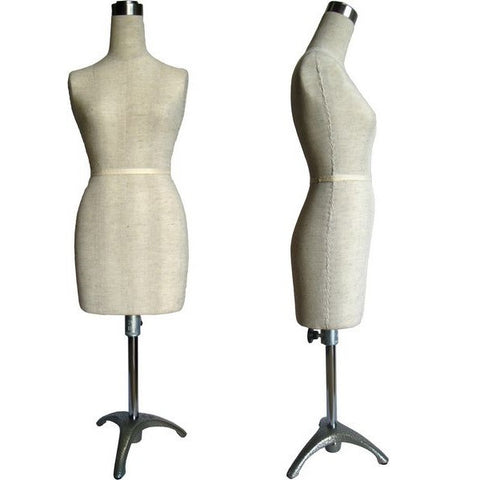 MN-182 Mini Half Scale Professional Pinnable Female Dress Form (great for students!) - DisplayImporter