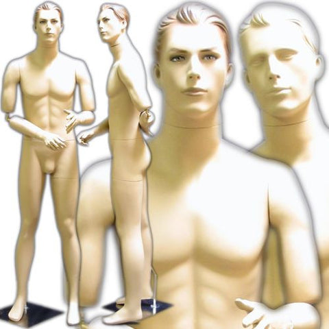 MN-199 Men's Mannequin with Flexible Arms and Interchangeable Heads  - DisplayImporter.com