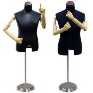 MN-204 Male Dress Form with Flexible Arms and Finger Joints - DisplayImporter