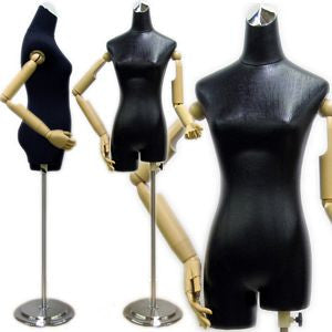 MN-213 Female Ladies Dress Form with Flexible Arms and Fingers - DisplayImporter