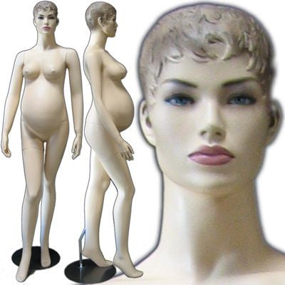 MN-219 Maternity Pregnant Female Realistic Head Mannequin - DisplayImporter