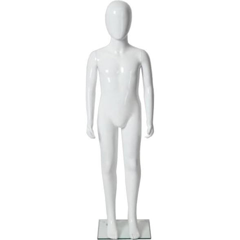 "MN-227 Glossy Abstract Unisex Child Preteen Full Size Mannequin 4' 3.25"" - DisplayImporter"