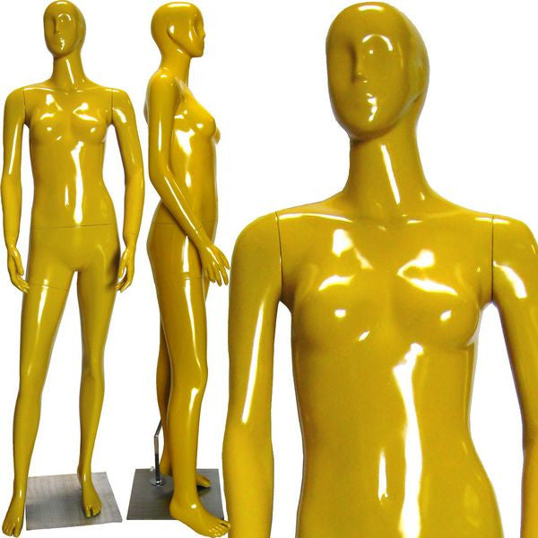 MN-228gyw Abstract Female Mannequin in High Glossy Paint  - DisplayImporter.com
