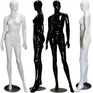 MN-229 Abstract Female Mannequin in High Glossy Paint - DisplayImporter
