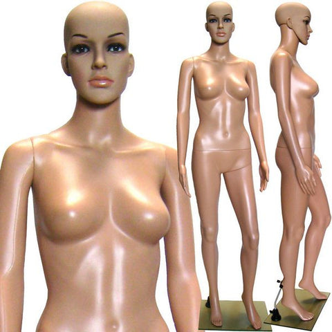 MN-235 Plastic Female Full Body Mannequin with Removable Head and Free Wig - DisplayImporter