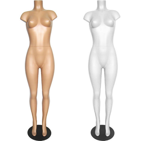 MN-236 Brazilian Plastic Full Body Torso Mannequin Form - DisplayImporter