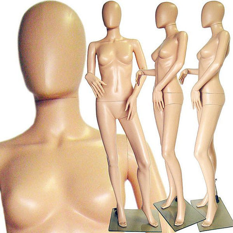 MN-242 Plastic Ladies Full Size Egghead Mannequin with Removable Head - DisplayImporter