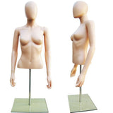 MN-246 Plastic Half Body Female Upper Torso Countertop Mannequin Form with Removable Head - DisplayImporter