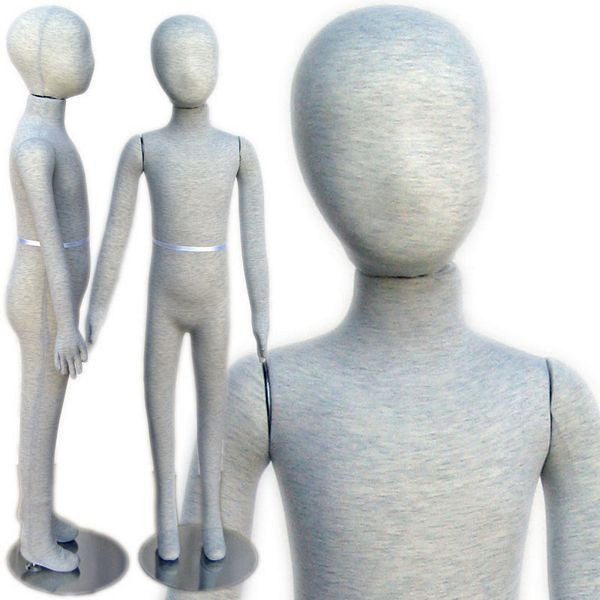 MN-254 Pinnable & Flexible Kid Mannequin with Head 4'  - DisplayImporter.com