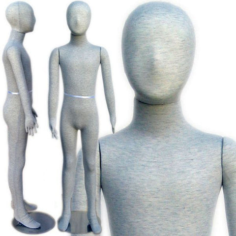 "MN-255 Pinnable & Flexible Kid Mannequin with Head 4' 11""  - DisplayImporter.com"