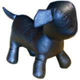MN-359 Standing Small Leatherette Dog Plush Mannequin Black - DisplayImporter.com - 2