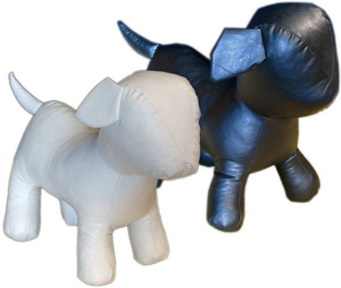 MN-359 Standing Small Leatherette Dog Plush Mannequin  - DisplayImporter.com - 1