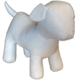MN-359 Standing Small Leatherette Dog Plush Mannequin White - DisplayImporter.com - 3