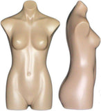 MN-360 Plastic Countertop Female 3/4 Body Mannequin Form - DisplayImporter