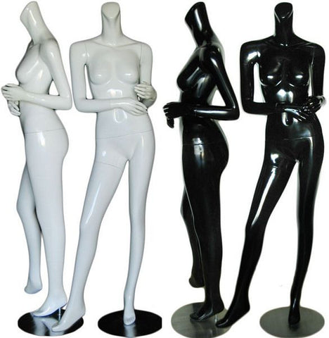 MN-370 Glossy Headless Ladies Mannequins  - DisplayImporter.com