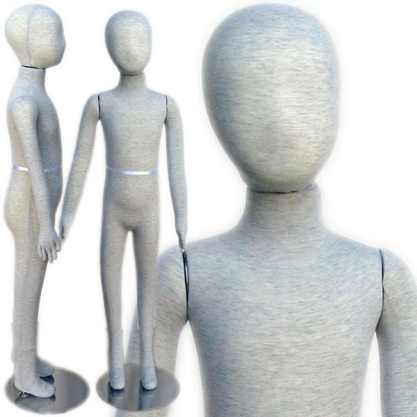 "MN-398 Pinnable & Flexible Kid Mannequin with Head 4' 2"" (6C-7C)  - DisplayImporter.com"