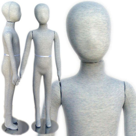 "MN-398 Pinnable & Flexible Kid Mannequin with Head 4' 2"" (6C-7C) - DisplayImporter"