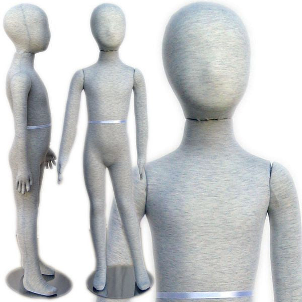 "MN-400 Pinnable & Flexible Kid Mannequin with Head 3' 10"" (5C-6C)  - DisplayImporter.com"