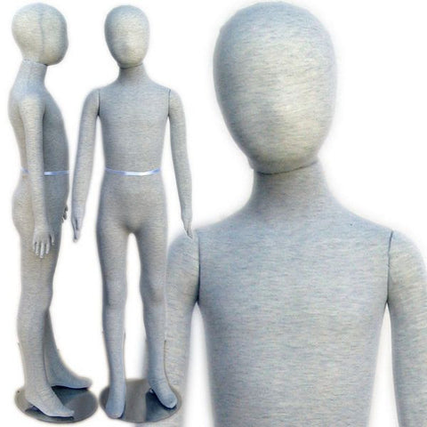 "MN-401 Pinnable & Flexible Kid Mannequin with Head 4' 6"" (7C-8C) - DisplayImporter"