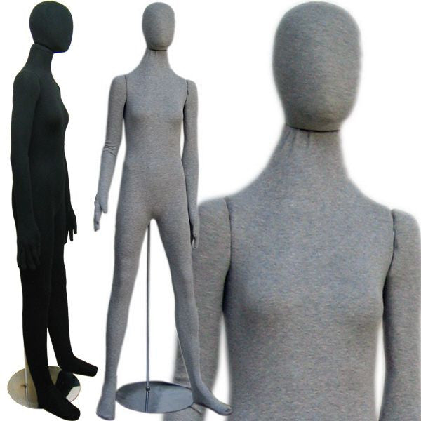 MN-402 Soft Flexible Female Body Form with Egg Head  - DisplayImporter.com - 1
