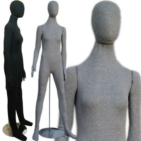 MN-402 Soft Flexible Female Body Form with Egg Head - DisplayImporter