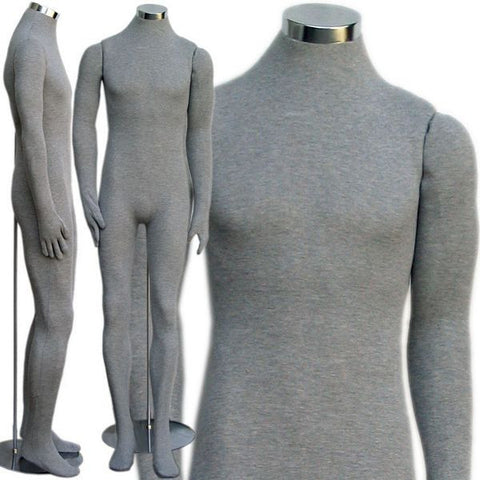 MN-405 Soft Flexible Headless Male Body Form - DisplayImporter