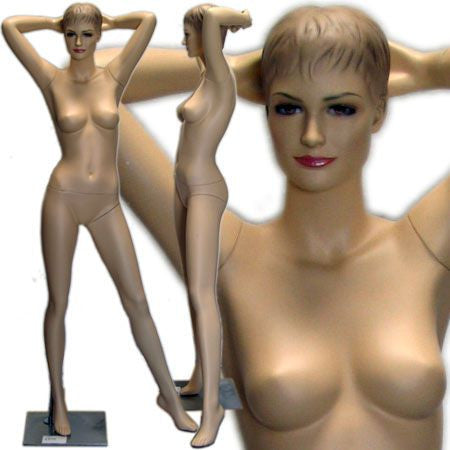 MN-419 Female Mannequin with Molded Hair  - DisplayImporter.com