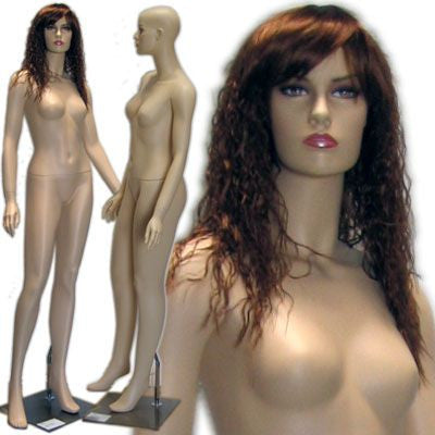 MN-421 Female Realistic Mannequin in Stylish Pose with Free Wig - DisplayImporter