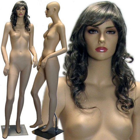 MN-425 Female Realistic Mannequin in Stylish Pose with Free Wig - DisplayImporter