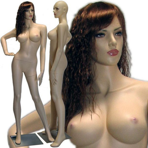 MN-426 Sexy Female Realistic Mannequin with Curvaceous Body (Lindsay) with Free Wig - DisplayImporter