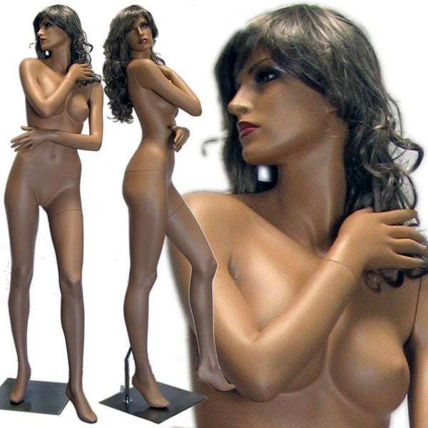 MN-427 Tanned Female Mannequin in Stylish Pose  - DisplayImporter.com