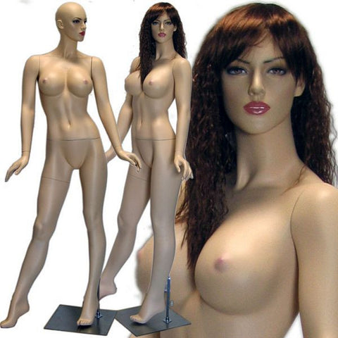 MN-428 Female Realistic Mannequin with Voluptuous Curvy Body (Julia) with Free Wig - DisplayImporter