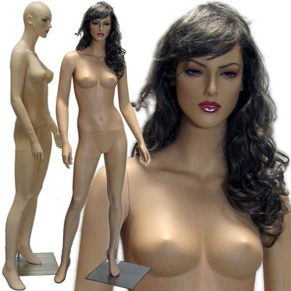 MN-430 Female Realistic Mannequin in Stylish Pose with Free Wig - DisplayImporter