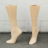 MN-AA17 USED 15'' Women's Freestanding Calf High Hosiery Leg Display (Final Sale) Fleshtone (used) - DisplayImporter.com - 2