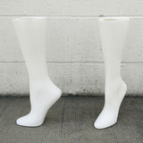 MN-AA17 USED 15'' Women's Freestanding Calf High Hosiery Leg Display (Final Sale) White (used) - DisplayImporter.com - 3